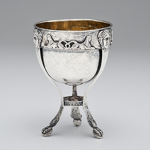 Egyptian Revival Silver Bowl