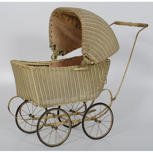 Wicker Doll Stroller