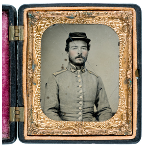 Sixth Plate Ambrotype of Unknown Militia Colonel
