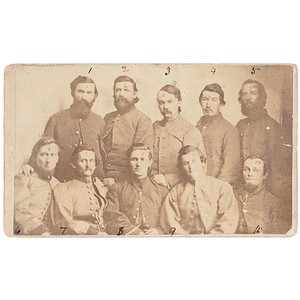 CDV of Morgan's Men at Camp Douglas