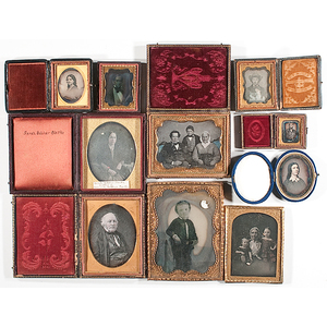 [Cased Images] Large Group of Daguerreotypes