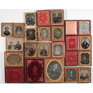 [Cased Images] Large Group of Daguerreotypes, Ambrotypes, and Tintypes
