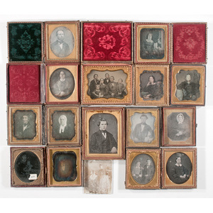 [Cased Images] Large Lot of Daguerreotypes, Ambrotypes and Tintypes
