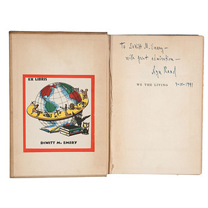 Ayn Rand, Inscribed and Signed We the Living