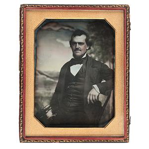 Daniel Boone's Nephew and Kentuckian, William Penn Boone, Half Plate Daguerreotype