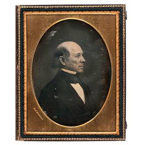 Half Plate Daguerreotype from the George Kirk Warren Estate, Noted Lowell, Mass. Daguerreotypist