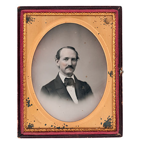 Half Plate Vignetted Daguerreotype Portrait by Samuel Broadbent