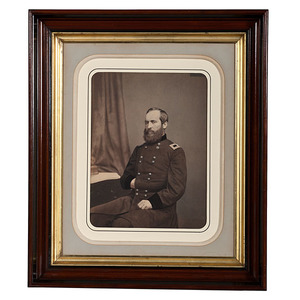 Brigadier General James Garfield, Mammoth Plate Salted Paper Photograph by Mathew Brady
