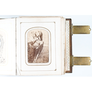 Pair of Family CDV Albums with Three Civil War Soldiers