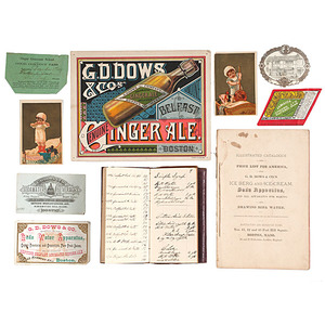 G.D. Dows, First U.S. Bottler of Ginger Ale & Inventor of Ornamental Soda Fountain, Personal Formula Ledger, Plus