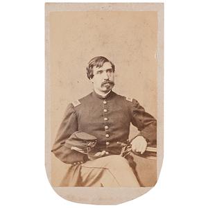 Gettysburg Amputee, Captain Joseph W. Gelray, 2nd Massachusetts Volunteers, CDV