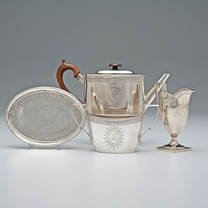 George III Sterling Tea Set