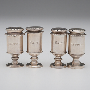 Anglo-Indian Sterling Salt and Pepper Shakers