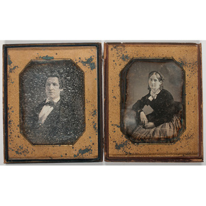 [Cased Images] Two Oversized Half Plate Daguerreotypes
