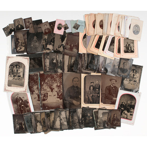 Large Collection of Tintypes, Plus