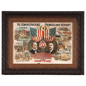 McKinley & Roosevelt Campaign Lithograph, The Administration's Promises Have Been Kept
