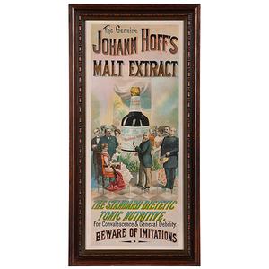 Johann Hoff's Malt Extract Advertisement Featuring Harrison & Cleveland