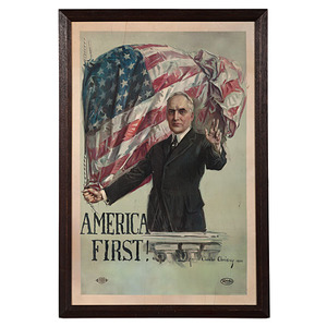 Warren G. Harding Campaign Poster by Howard Chandler Christy, Previously Unrecorded
