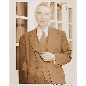 Manhattan Project Physicist J. Robert Oppenheimer Autographed Photograph