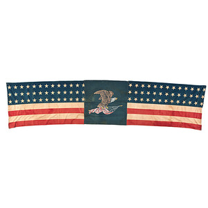 39-Star American Flag Banner Featuring Eagle