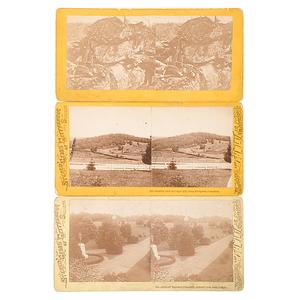 Gettysburg Stereoviews by W.H. Tipton, Group of Three