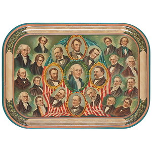 William McKinley Inauguration, 1897, Lithographed Serving Tray