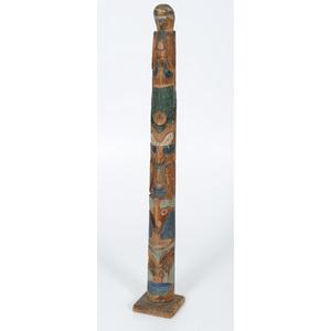 Northwest Coast Painted Totem Pole