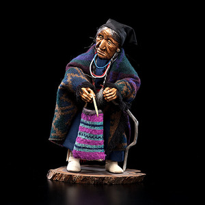 Shona Hah Kwakwaka'wakw Carving of a Nez Perce Woman