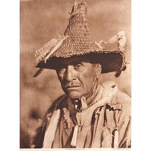 Edward Curtis Photogravure Klamath Warrior Head-dress