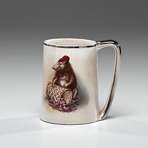 Dixie Land / Atlanta 1914 Ceramic Mug Featuring Possum, Possibly for Taft