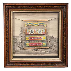 McKinley & Hobart Salesman's Sample Street Banner