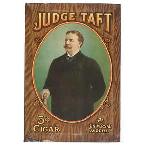 Judge Taft / 5 Cent Cigar Self-Hanging Sign