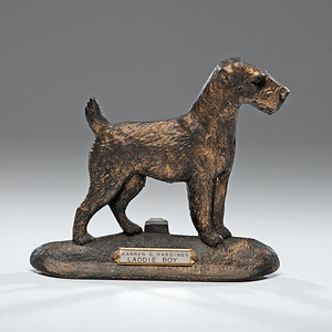 President Warren Harding's Dog, Laddie Boy Cast-Iron Doorstop