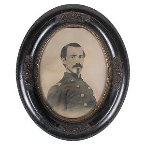 Civil War Soldier, Full Plate Tintype