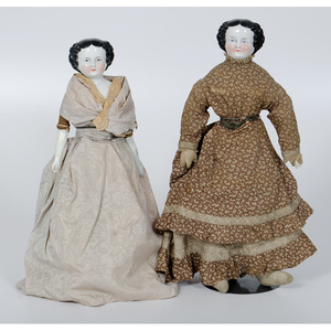 Large Porcelain Head Dolls