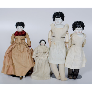 Dolls with Porcelain Heads