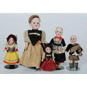 German Bisque Costumed Dolls