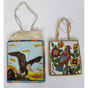 Plateau Beaded Hide Bags