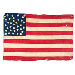 34-Star American National Flag with 35th Star Added