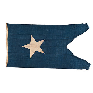 Civil War-Era American Swallowtail Flag, Possibly from Army of the Potomac Headquarters