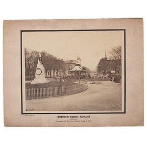Abraham Lincoln Funeral, Cleveland, Ohio, Large Format Albumen by Sweeny