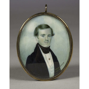 Portrait Miniature of a Gentleman by Moses B. Russell,