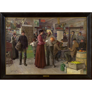 Important Genre Painting by Abbott Graves,