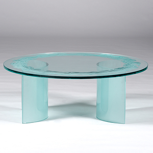 Etched Glass Coffee Table