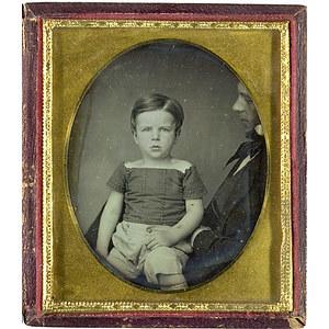 Daguerreotype of Child on Man's Lap,