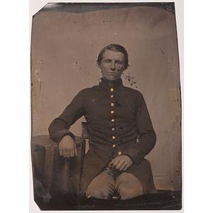 Civil War Tintype of William H. Daves, 116th Illinois Regiment, Co. D, POW