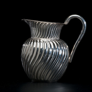 Chinese Export Silver Pitcher