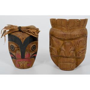 Tom Hunt and Stephen Bruce Northwest Coast Carved Masks