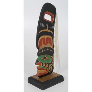 Patrick Hunt Kwaguithl Dorsal Fin Speaker Face Carving