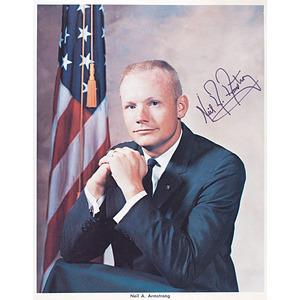Neil Armstrong Autographed Photograph, Autopen